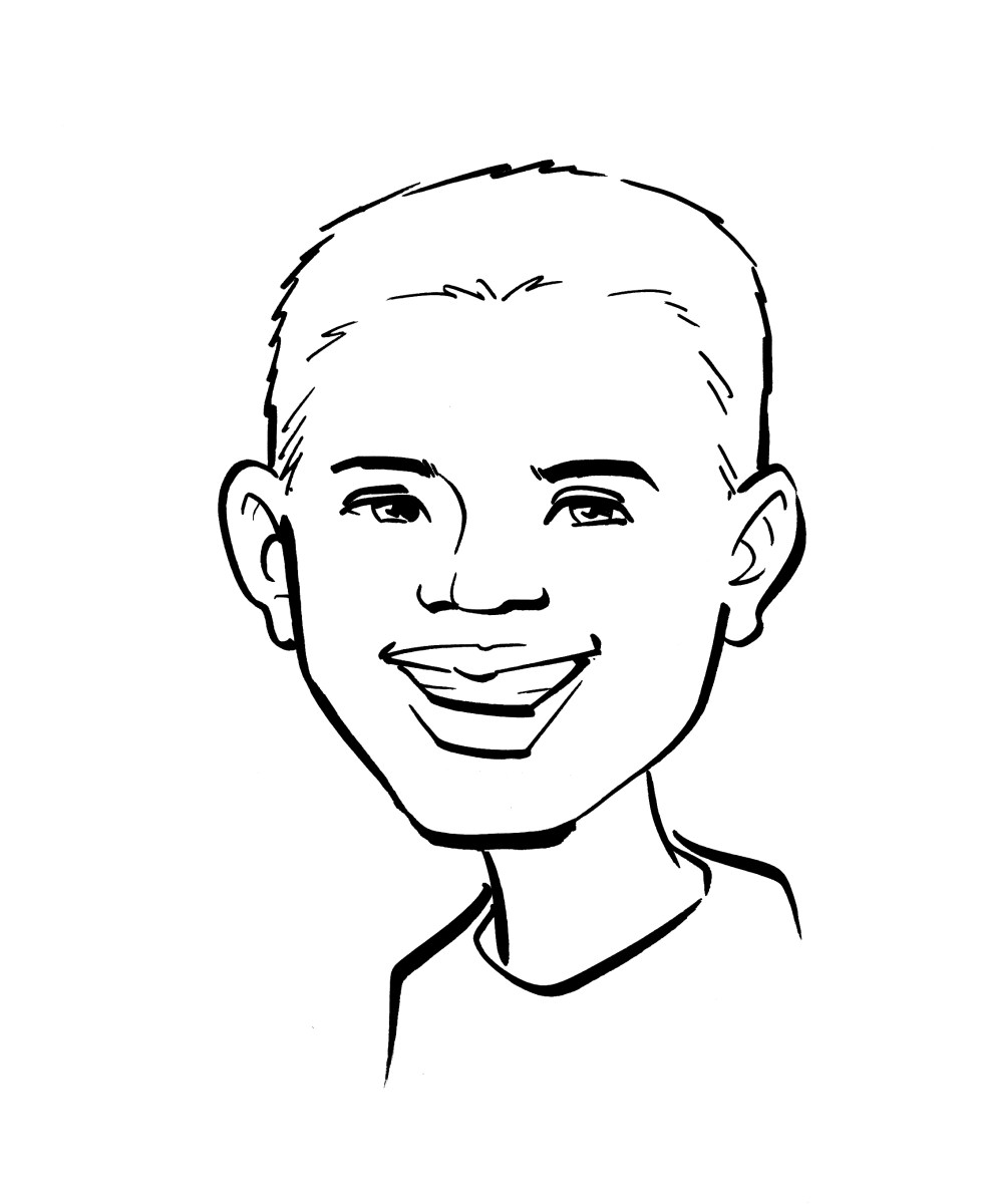 Line Drawing Boy Face : Themevogue cartoon caricatures